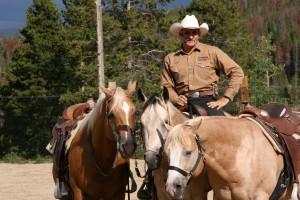 Sterrett in step with steeds in 'Sermon on the Mount'