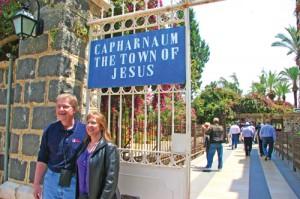 Singing where Jesus walked