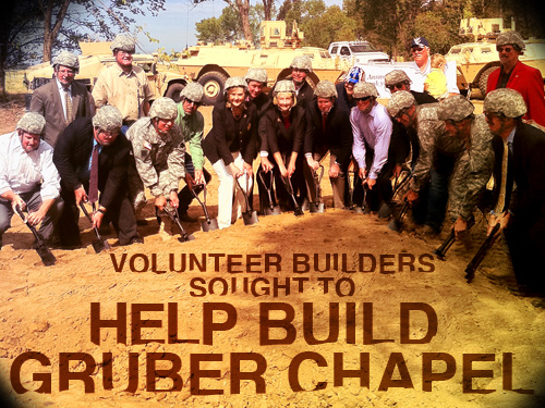 Volunteer builders sought to help build Gruber chapel