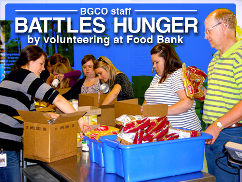BGCO staff battles hunger by volunteering at Food Bank