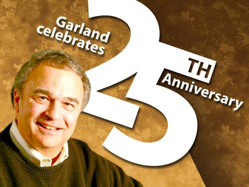 Garland celebrates 25th anniversary