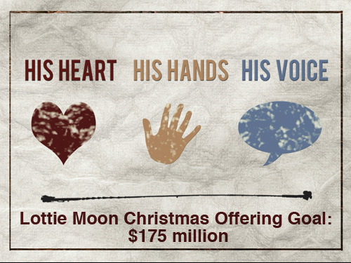 Lottie Moon Christmas Offering goal $175 million