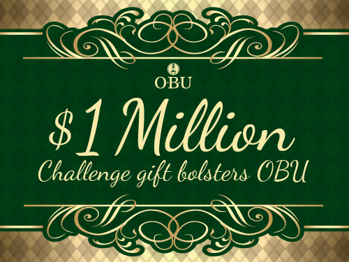 $1 Million Challenge gift bolsters OBU