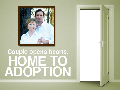 Couple opens hearts, home to adoption