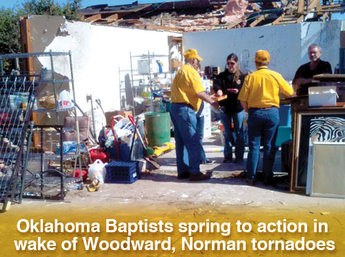 Oklahoma Baptists spring to action in wake of Woodward, Norman tornadoes