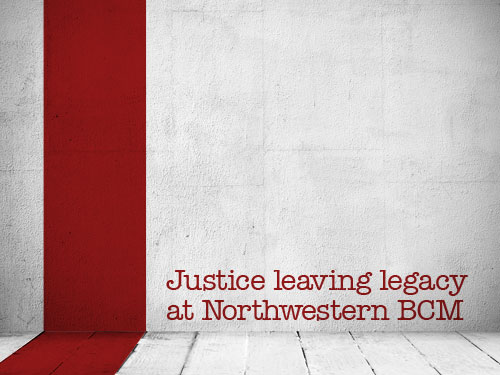 Justice leaving legacy at Northwestern BCM