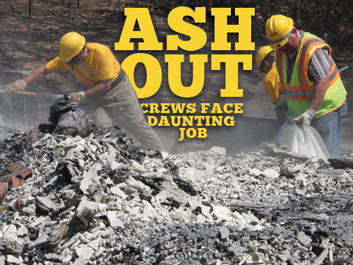 Ash out crews face daunting job