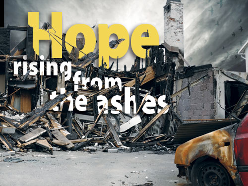 Hope rising from the ashes: After wildfires, Baptists help through volunteering, giving