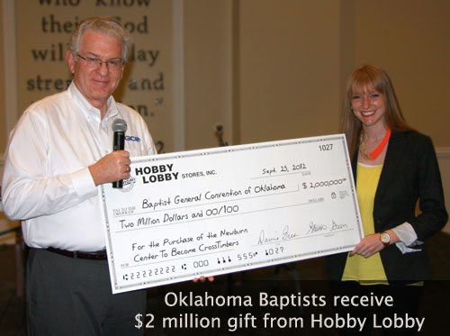 Oklahoma Baptists Receive $2 million gift from Hobby Lobby