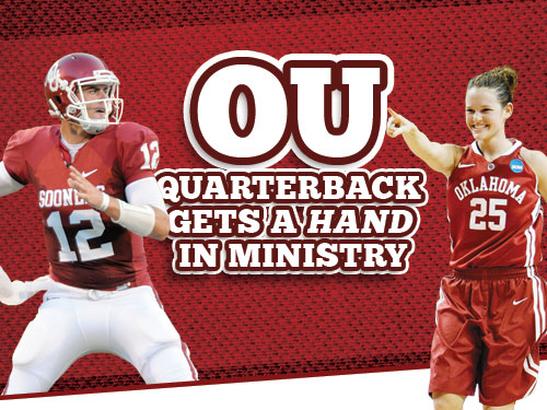 OU quarterback gets a hand in ministry