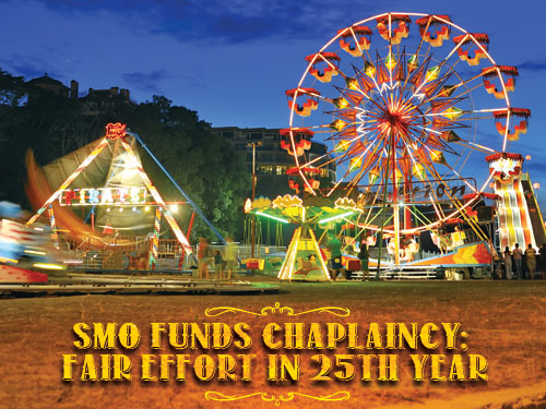 SMO funds chaplaincy; fair effort in 25th year