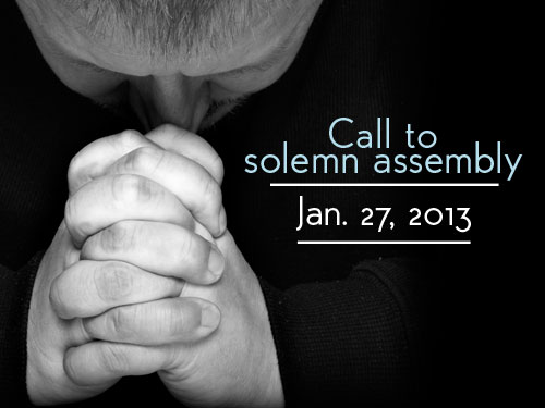 Call to solemn assembly–Jan. 27, 2013