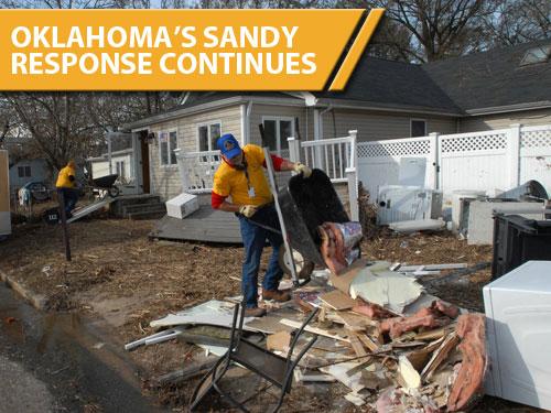Oklahoma's Sandy response continues