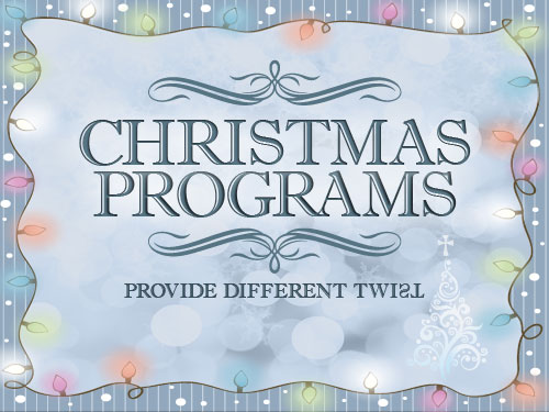 Christmas programs provide different twist