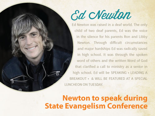 Newton featured speaker during State Evangelism Conference