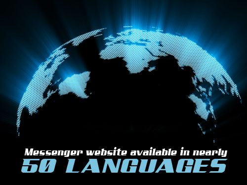 Messenger website available in nearly 50 languages