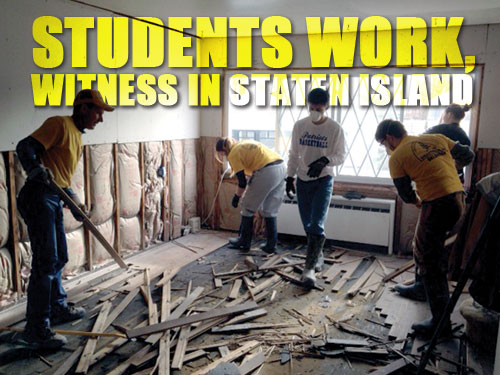 Students work, witness in Staten Island