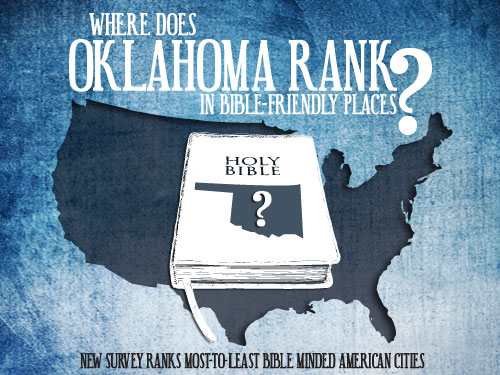 Where does Oklahoma rank in Bible-friendly places?