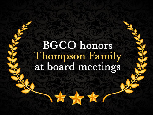 BGCO honors Thompson Family at board meeting
