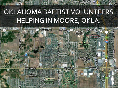 Oklahoma Baptist volunteers helping in Moore, Okla.