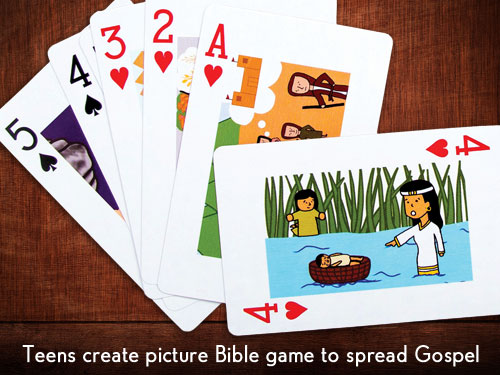 Teens create picture Bible game to spread Gospel