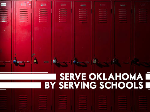 Serve Oklahoma by serving schools