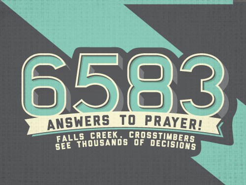 6,583 answers to prayer