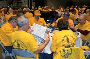 On Monday afternoon, Disaster Relief volunteers enjoyed a celebration banquet at Broken Arrow, BattleCreek.