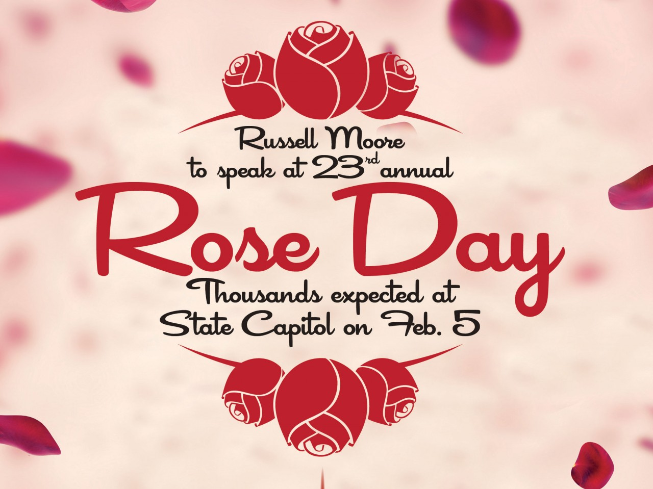 Moore to speak at Rose Day