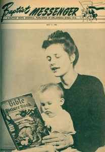 "Larry Merideth makes his ""debut"" with the Baptist Messenger in 1950, as he and his mother were on the cover of the May 11 edition promoting Mother's Day."