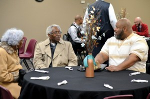 Leaders share fellowship at Monday's African American Leaders' Dinner.