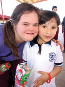 Sarah ministers in Mexico at a local school.
