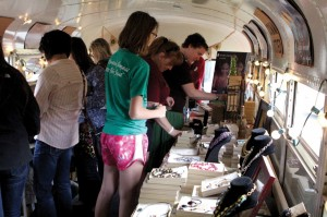 Fair trade crafts were offered to help victims of human trafficking through the Change the World bus.