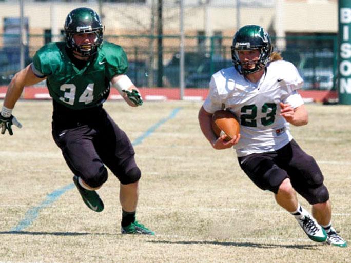 White tops Green in OBU football Spring Game