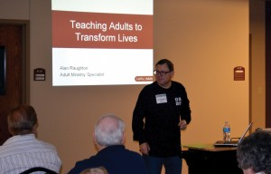 Lifeway's Alan Raughton led one of the conference session.