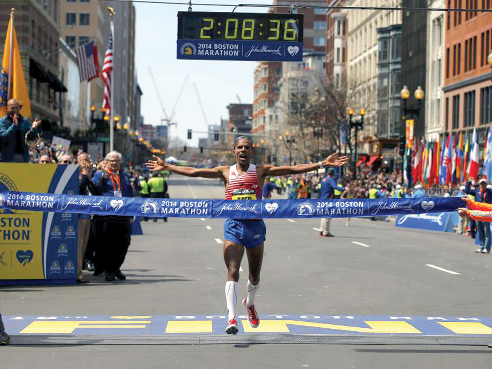 Faith pushes Boston Marathon winner across finish line