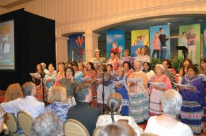 Native Praise, a choir from 23 Native American churches and 15 tribes from Oklahoma, sing during the Woman's Missionary Union Celebration June 8.