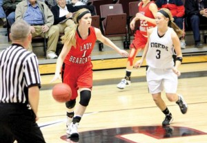 Mackenzie Janz, with ball, is now a senior playing for the Erick Lady Bearcats (Photo: Provided)