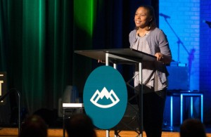 "Black, white, Asian and Iranian pastors and leaders addressed racial disunity Friday (March 27) during the 2015 Ethics & Religious Liberty Commission Leadership Summit in Nashville. Trillia Newbell, the ERLC's director for community outreach, spoke on ""United: Captured by God's Vision for Diversity."" (Photo: ERLC)"