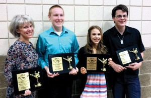 The KICS school fielded its first tournament team this year. Participants included, from left, Stacey Lozano, Andrew Smith, Rachel Freeman and Kris Schwalbe. (Photo: Provided)