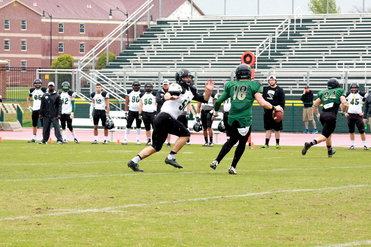 Green trims White in OBU spring football game | Baptist ...