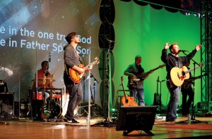 Matt Roberson and his band lead worship during Rewired
