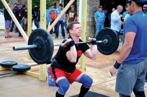 Pastor Andy Taylor of Ponca City, First competed with teammate Blake Gideon, pastor of Edmond, First, and won the first-ever Men's Rewired CrossFit competition (Photo: Chris Doyle)