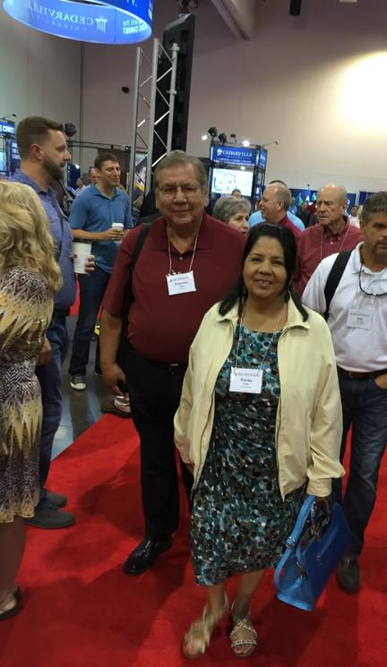 The @bgco's Native American Ministry Specialist Dr. Emerson Falls and his wife Shirley enjoying the #SBC15.