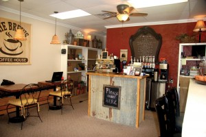 1) The small shop's interior is decorated with handmade and donated items (Photo: Dana Williamson