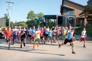 1) Runners begin the start of the Falls Creek 5K (Photo: Austin Urton)