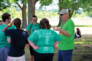 5) Jacon Langley, new BGCO director of conference centers, right, interacts with campers and sponsors at the Riverfront Recreation Area (Photo: Chris Doyle)