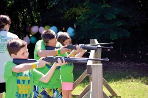1) Campers participate in target sports, supervised by trained CrossTimbers staffers (Photo: Chris Doyle)