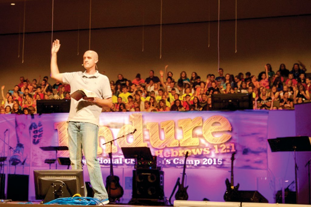 Landon Coleman served as the Session Two camp pastor. (Photo: Autin Urton)