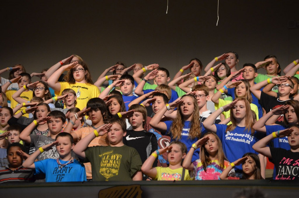 The camp choir was a major part of the ACC worship experience (Photo: Chris Doyle)